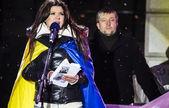 Social activist and singer Ruslana. — Stock Photo