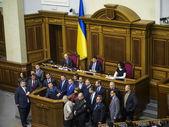 Les radicaux ukrainiens bloqués Verkhovna Rada — Photo