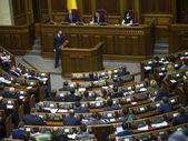 Ukrainian radicals blocked  Verkhovna Rada — Стоковое фото