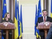 Petro Poroszenko z Federica Mogherini — Zdjęcie stockowe