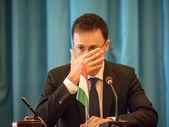 Peter Siyyarto podczas wizyty na Ukrainie — Zdjęcie stockowe