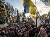 Financial Maidan protest in Kyiv — Stock Photo