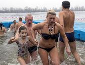 Celebration of Epiphany in Kiev — Stock Photo