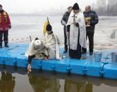 Celebration Epiphany in Kiev — Stock Photo