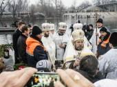 Patriarch Filaret holds divine service — Foto de Stock