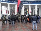 Right sector noted anniversary on Hrushevskoho — Stok fotoğraf