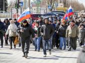 Pro-Russian march in Lugansk — Stock Photo
