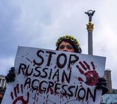Kiev  against Russian  aggression — Stock Photo