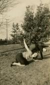 Antique black and white  photo — Stockfoto