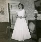Antique black and white  photo — Foto de Stock