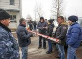 AutoMaidan picket of Akhmetov estate — Stock Photo