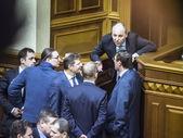 Session hall of  Verkhovna Rada — Stock Photo