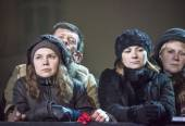 Relatives of victims on Euromaidan — Stock Photo