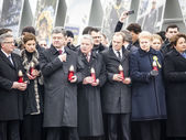 Porochenko on march in memory of perished activists — Stock Photo