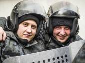 "Police at rally ""Right Sector"" — Stock Photo"
