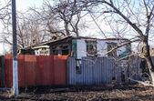 Ha distrutto casa nella regione di Donetsk — Foto Stock