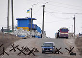 Lisichansk - the city liberated Ukrainian army — Stock Photo