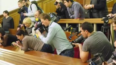Fight in Verkhovna Rada — Stock Video