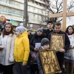 Palm Sunday religious procession in Ukraine — Stock Photo #69552851