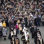 Palm Sunday religious procession in Ukraine — Stock Photo #69552857