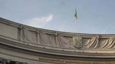 El Ministerio de relaciones exteriores de Ucrania — Vídeo de Stock