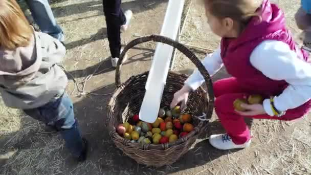 KYIV, UKRAINE - APRIL 17, 2016: Children playing outdoors. Little ...