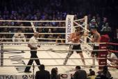 Fight between A.Usyk and A. Knyazev — Stock Photo