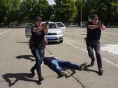 Policemen in the Institute for Police training Ukraine — Stock Photo