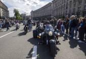 Ukrainische Biker übergeben in Kiew — Stockfoto
