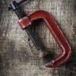Old rusty clamp — Stock Photo #79284740