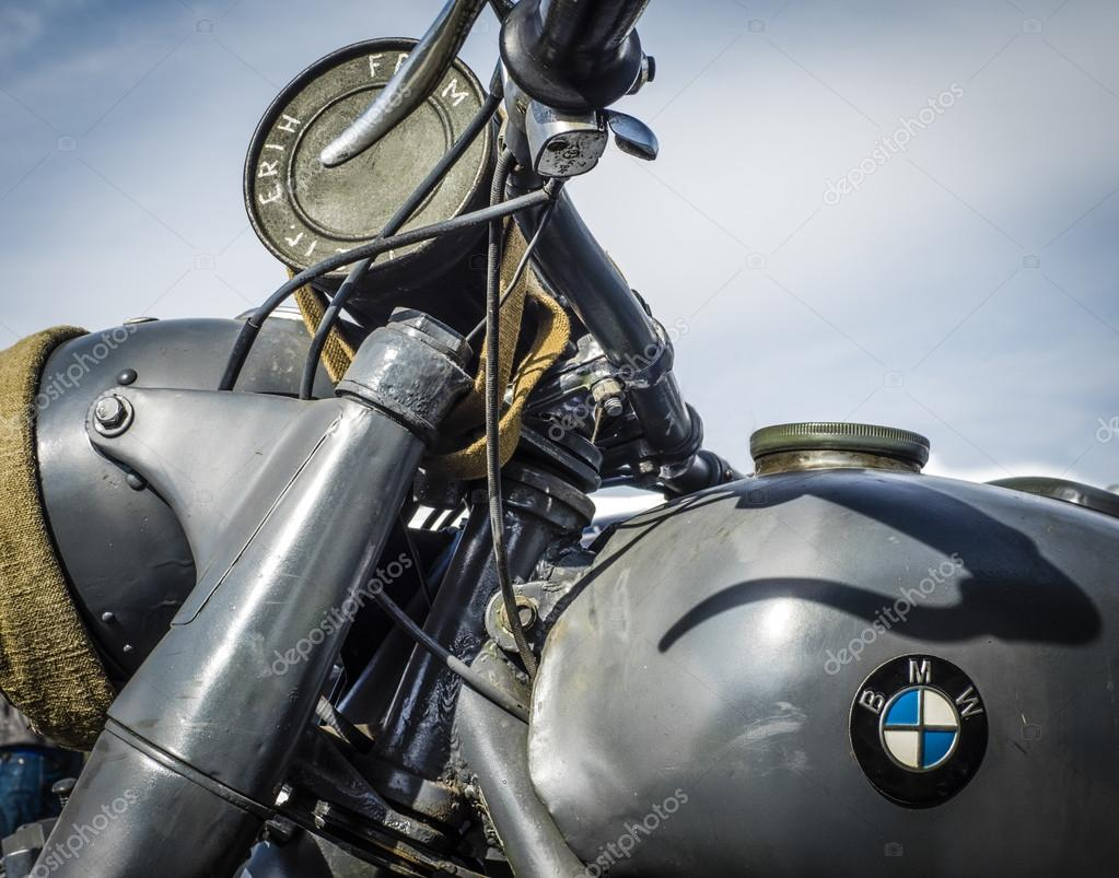 seconda guerra mondiale, moto bmw, germania — foto editoriale
