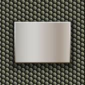 Metal plate — Stock Vector