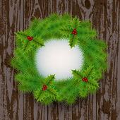 Corona di Natale — Vettoriale Stock