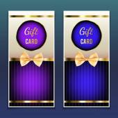Gift Cards — Stock Vector