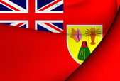 Civil Ensign of Turks and Caicos Islands — Stock Photo