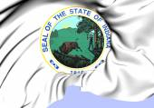State Seal of Indiana, USA. — Stock Photo