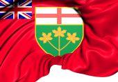 Flag of Ontario, Canada.  — Stock Photo