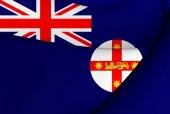 Flag of New South Wales, Australia.  — Stock Photo
