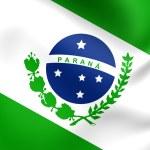 Flag of Parana, Brazil. — Stock Photo #52364357