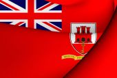 Civil Ensign of Gibraltar — Stock Photo