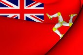 Isle of Man Civil Ensign — Stock Photo