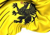 Flag of Pomeranian Voivodeship, Poland.  — Stock Photo