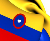 Civil Ensign of Colombia — Stock Photo