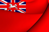 Civil Ensign of Hannover (1801- 1866) — Stock Photo