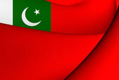 Civil Ensign of Pakistan — Stock Photo
