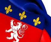 Flag of Lyon, France.  — Stock Photo