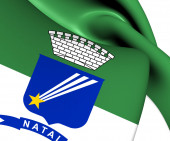 Flag of Natal, Brazil.  — Stock Photo
