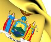 Vlajka státu new york (1778-1901), usa. — Stock fotografie