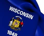 Vlajka wisconsin, usa. — Stock fotografie