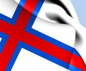 Vlajka faerských ostrovů — Stock fotografie